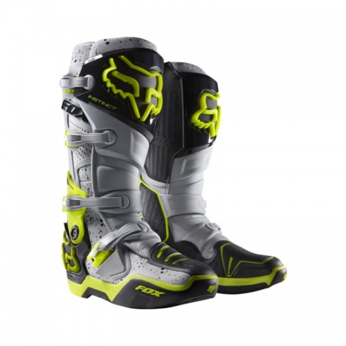FOX RACING - INSTINC BOOTS - AI CHROMA GREY LIMITED EDITION