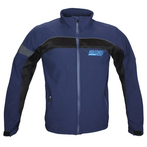 HOLESHOT - KHISSWA SOFT SHELL MESH JACKET BLUE