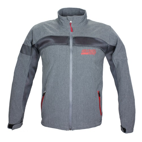 HOLESHOT - KHISSWA SOFT SHELL MESH JACKET GREY