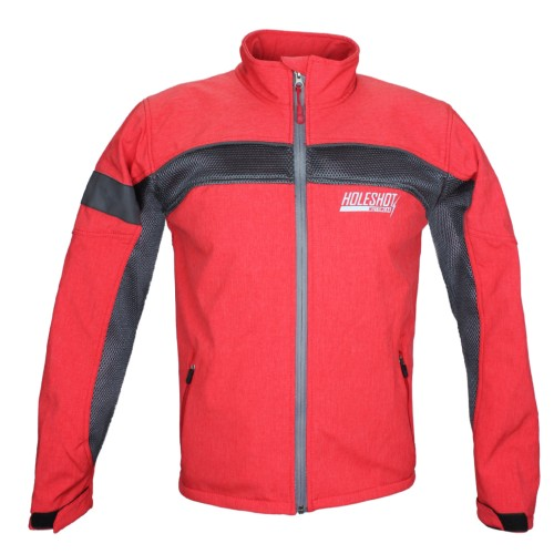 HOLESHOT - KHISSWA SOFT SHELL MESH JACKET RED