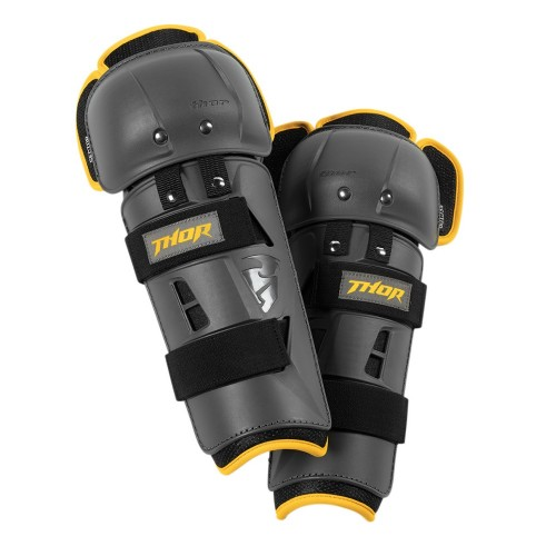 THOR - SECTOR GP KNEE GUARD - CHARCOAL YELLOW (PAIR)