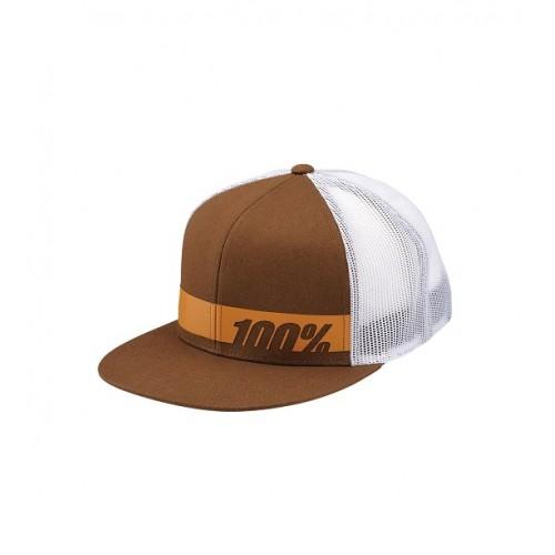 100% - HAT - BONNEVILLE TRUCKER BROWN