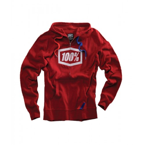100% - FLEECE - SYNDICATE RED (MODERN FIT)