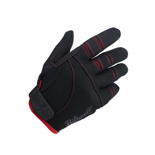 BILTWELL - MOTO GLOVES BLACK / RED