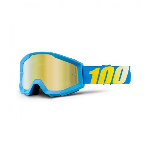 100% - STRATA - BLUE MIRROR LENS