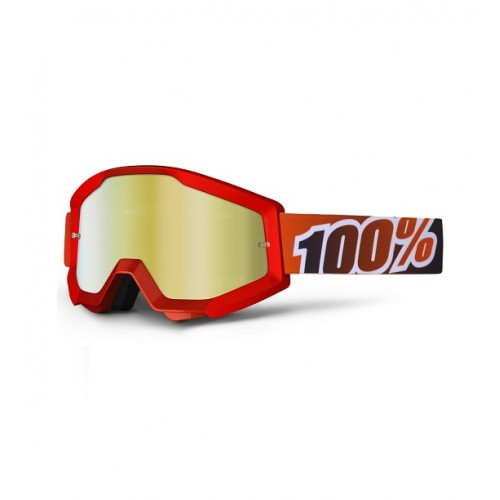 100% - STRATA - RED FIRE MIRROR LENS