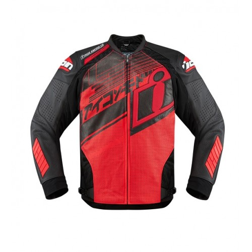 ICON - LEATHER - HYPERSPORT PRIME HERO RED