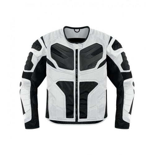 ICON - TEXTILE - OVERLORD RESISTANCE JACKET WHITE