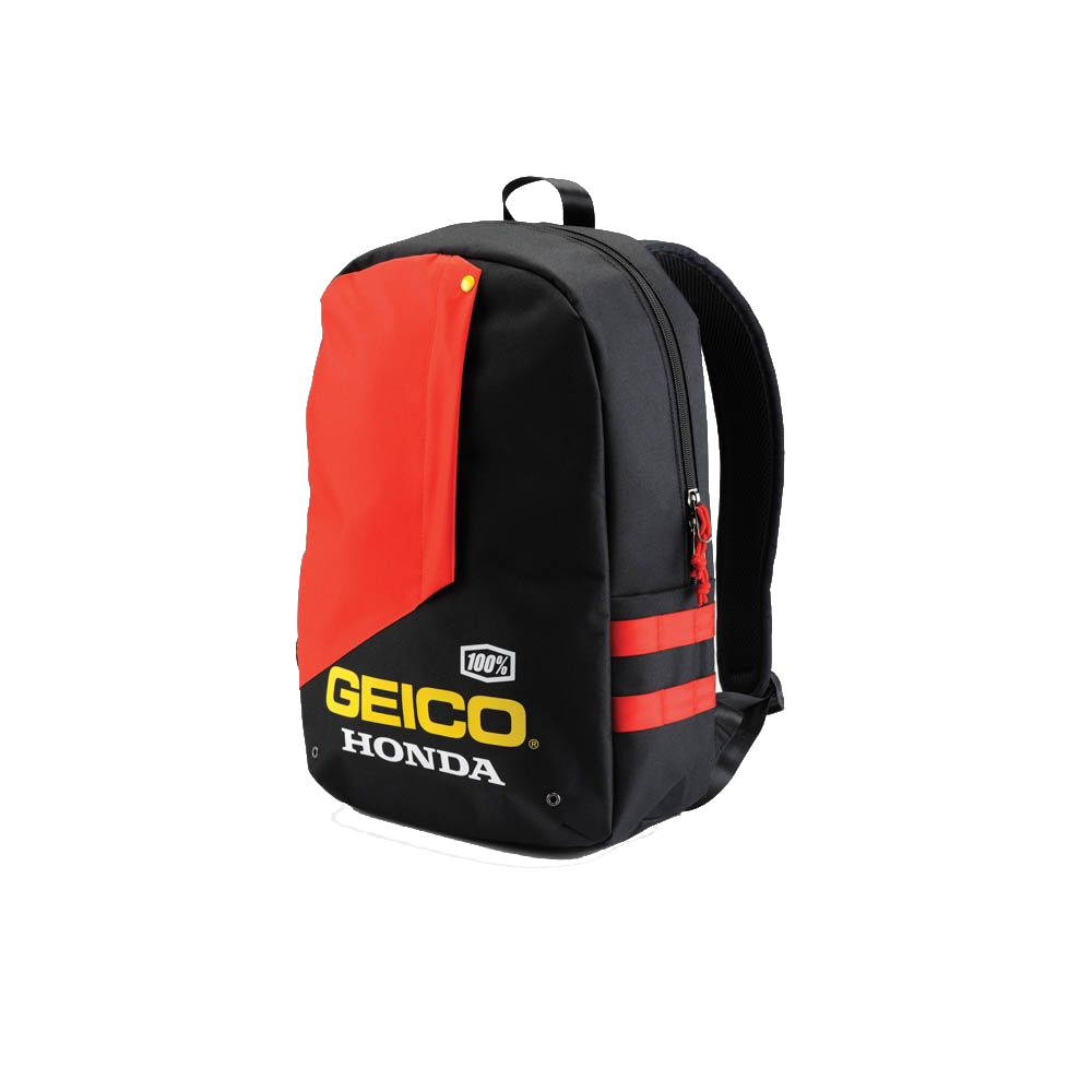 100% - BACKPACK - HAVERSACK BACKPACK GEICO/HONDA - BLACK