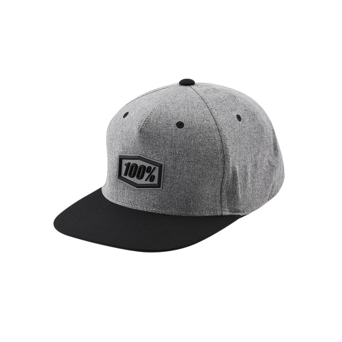 100% - HAT - ENTERPRISE SNAPBACK HAT GUNMETAL HEATHER