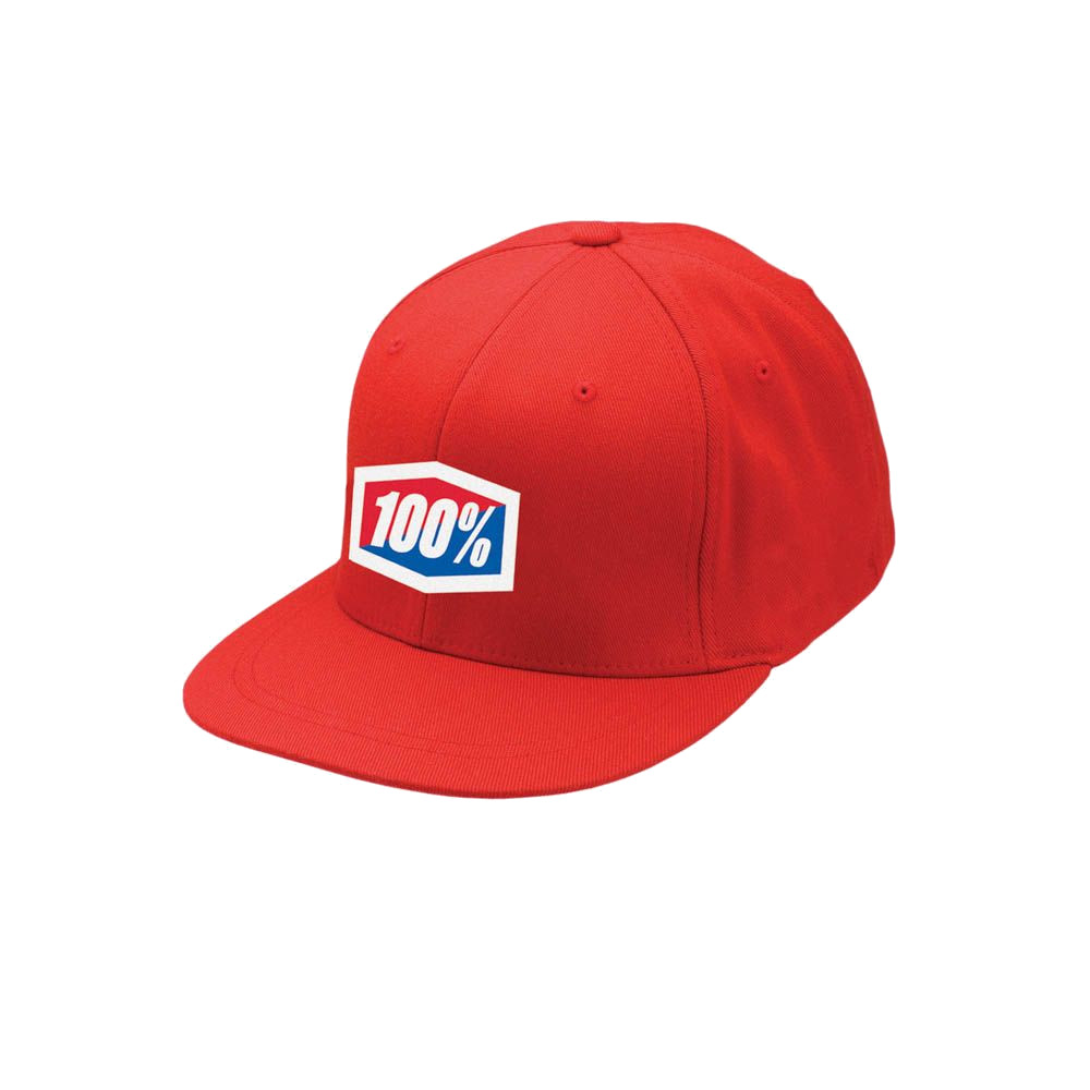 100% - HAT - ESSENTIAL J-FIT FLEXFIT RED