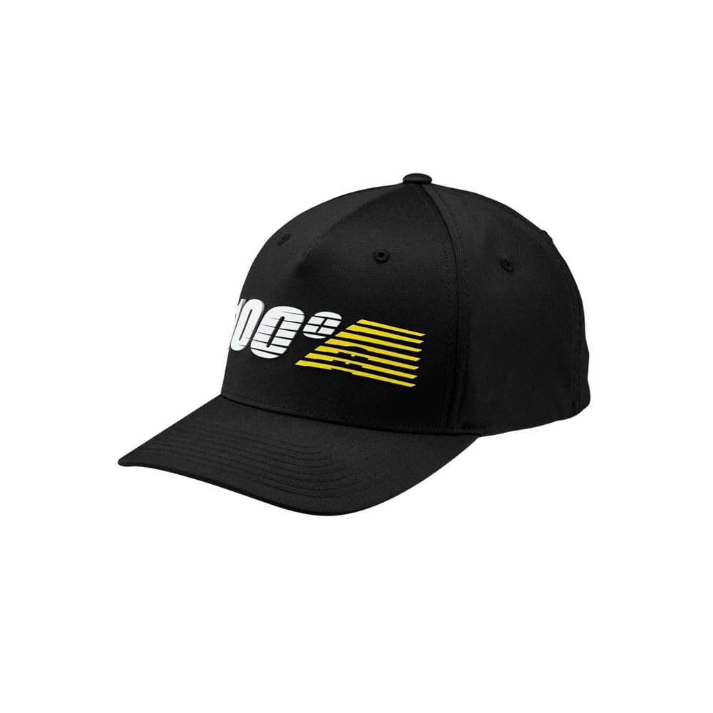100% - HAT - STARLIGHT FLEXFIT BLACK