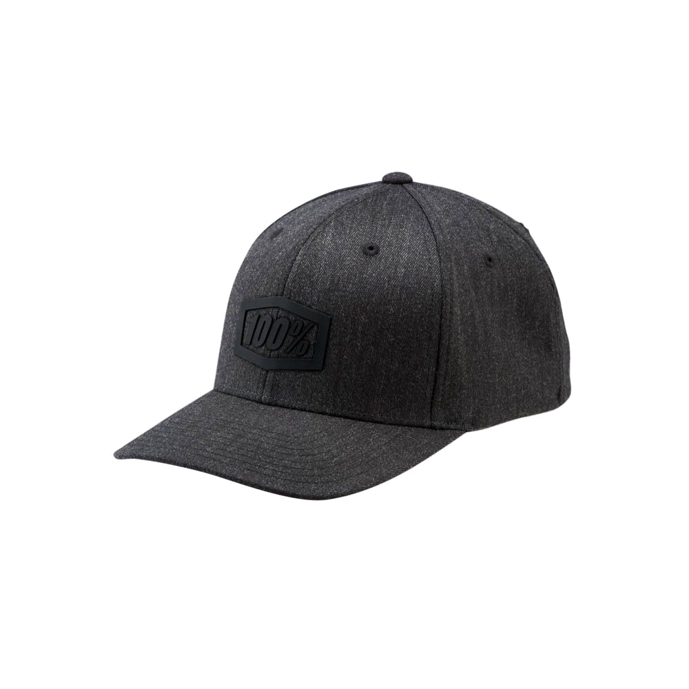 100% - HAT - TREK FLEXFIT CHARCOAL HEATHER