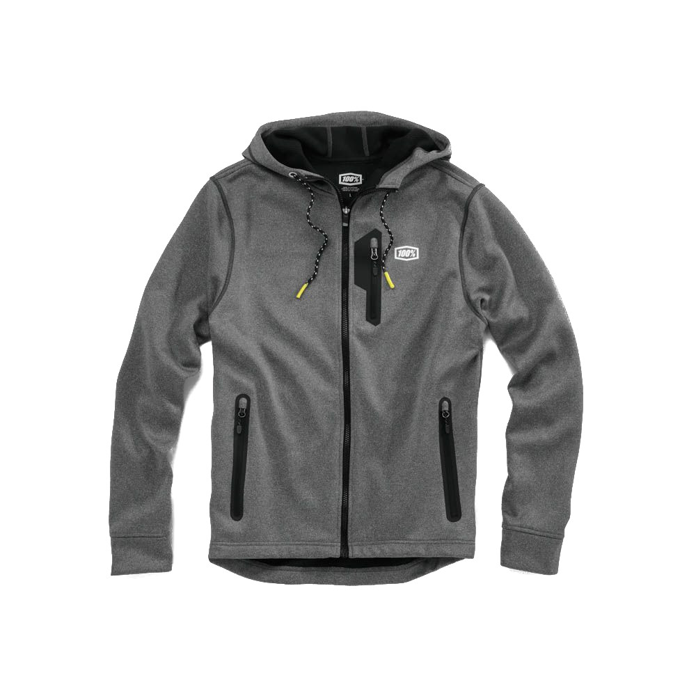 100% - FLEECE - COUNCIL LIGHTWEIGHT OUTERSHELL - CHARCOAL HEATHER