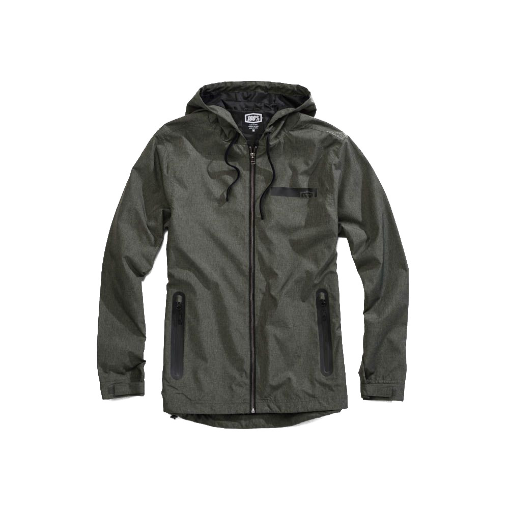 100% - FLEECE - STORBI LIGHTWEIGHT JACKET - ARMY HEATHER