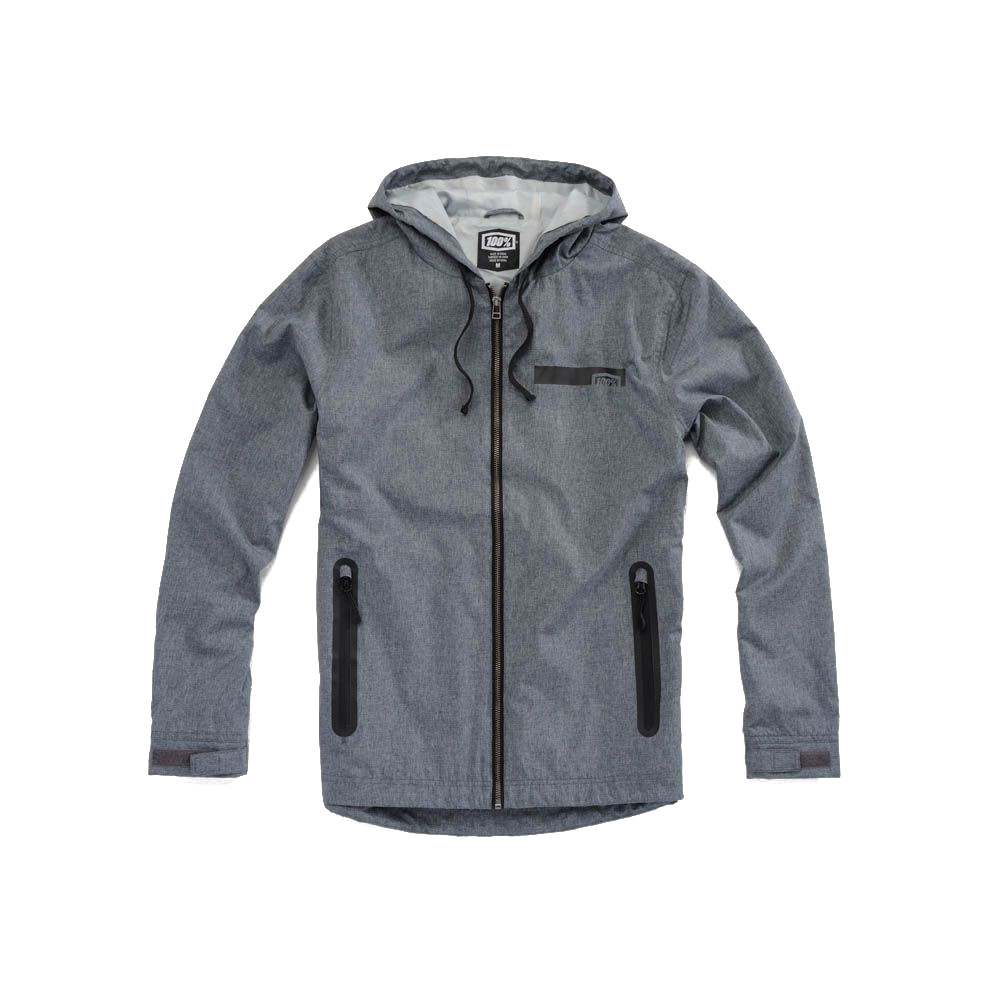100% - FLEECE - STORBI LIGHTWEIGHT JACKET - HEATHER GRAY