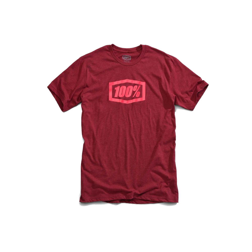 100% - SHIRT - ESSENTIAL TSHIRT BURGUNDY