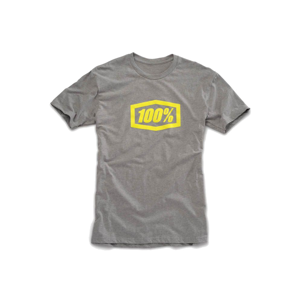 100% - SHIRT - ESSENTIAL TSHIRT HEATHER GREY