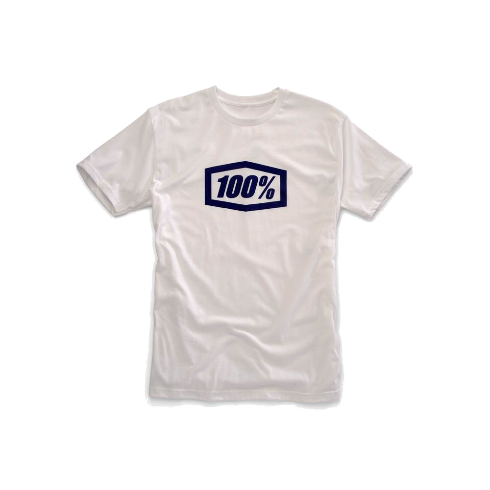 100% - SHIRT - ESSENTIAL TSHIRT WHITE BLUE