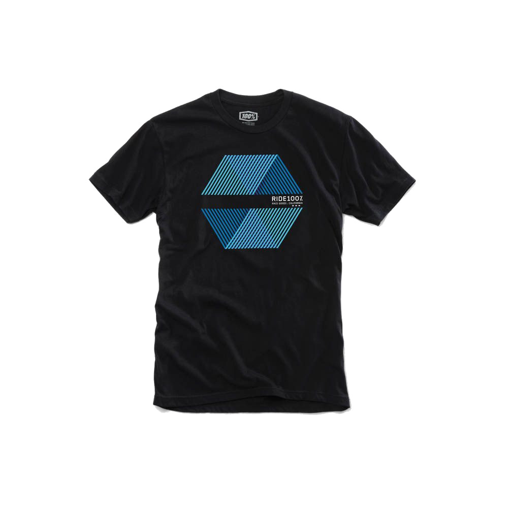 100% - SHIRT - POLYGON TSHIRT BLACK