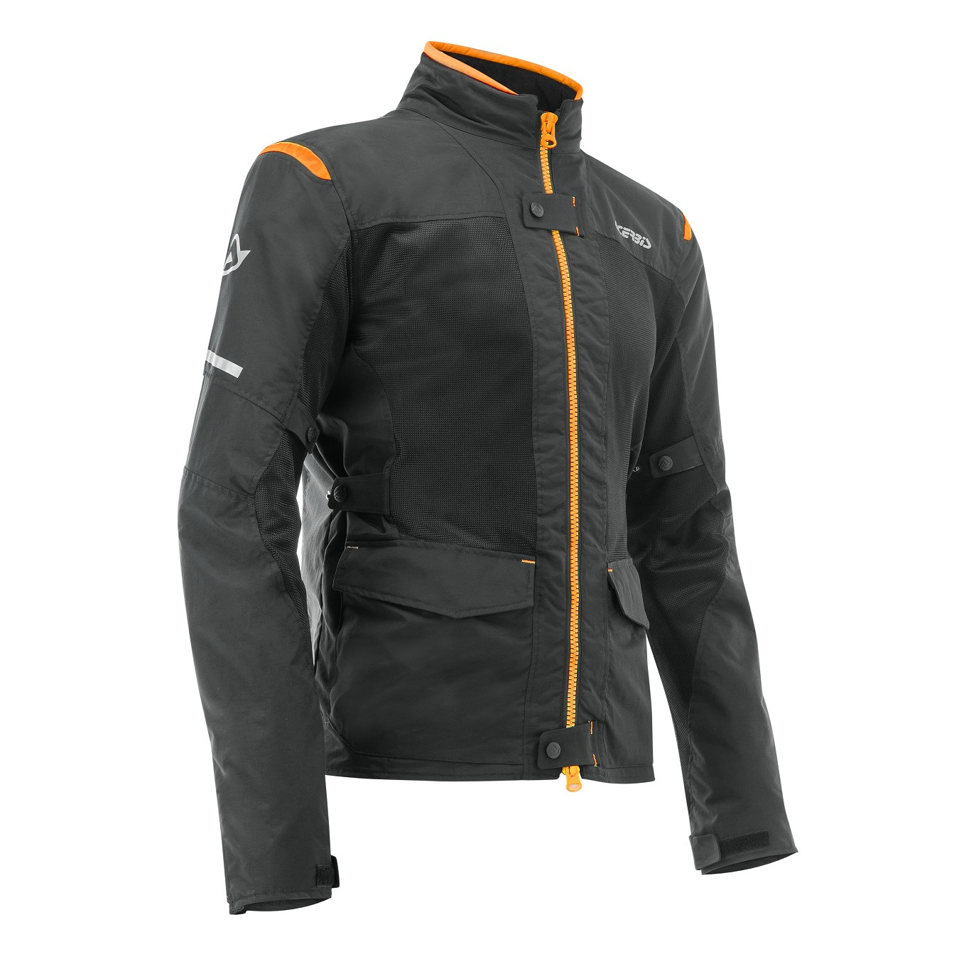 ACERBIS - RAMSEY MY VENTED 2.0 LONG JACKET - BLACK ORANGE