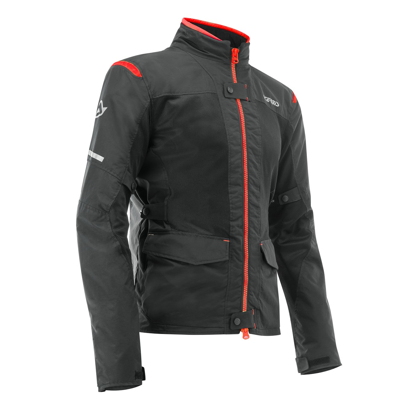 ACERBIS - RAMSEY MY VENTED 2.0 LONG JACKET - BLACK RED