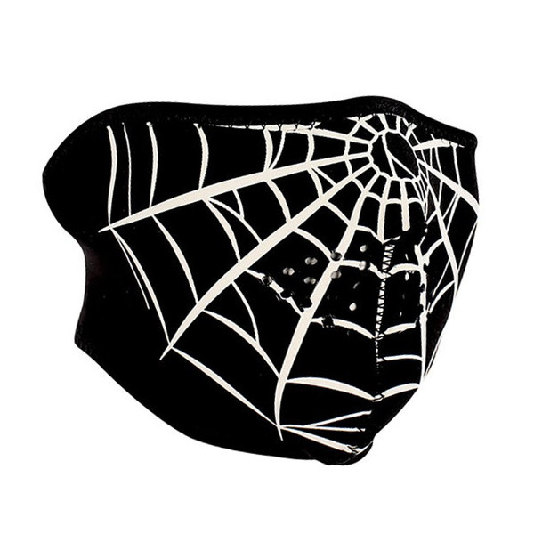 HALF MASK NEOPRENE SPIDER WEB