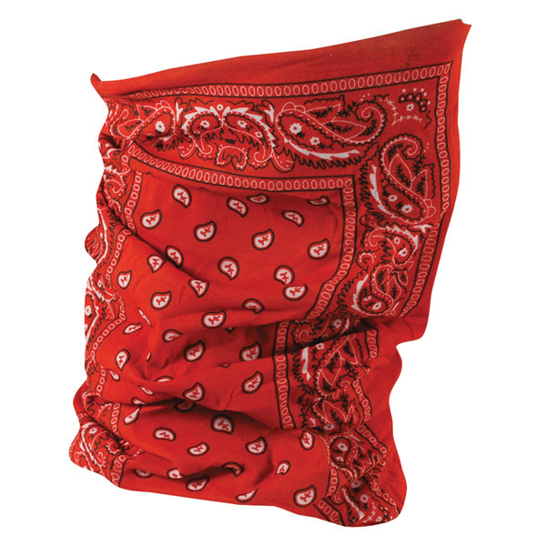 ZAN HEADGEAR - MOTLEY TUBE POLYESTER RED PAISLEY
